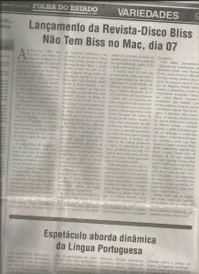 Matéria Folha do Estado da Bahia