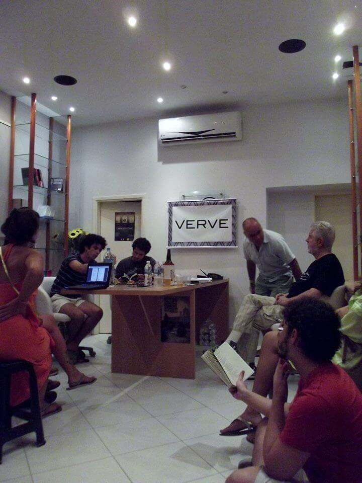 2014. Encontro com Sergio Cohn e Alberto Bicceli. Sede da editora oitoemeio.